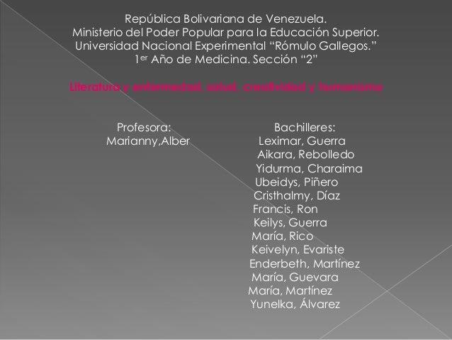 República Bolivariana de Venezuela.Ministerio del Poder Popular para la Educación Superior.Universidad Nacional Experiment...