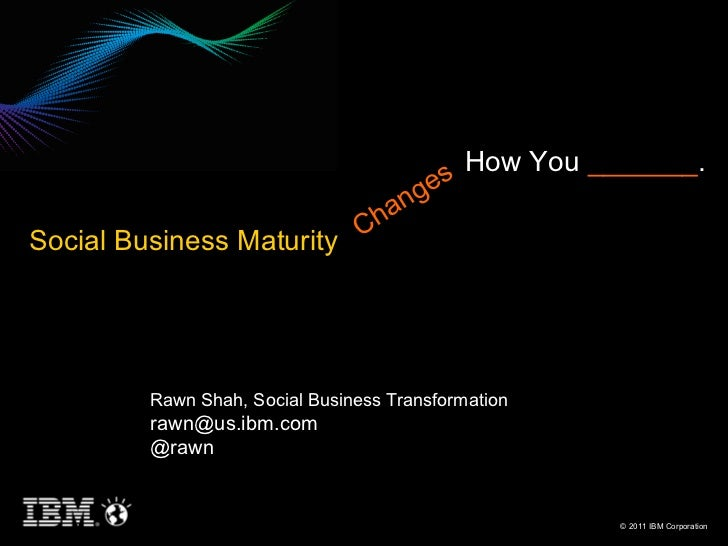 Social Business Maturity Changes How You ______