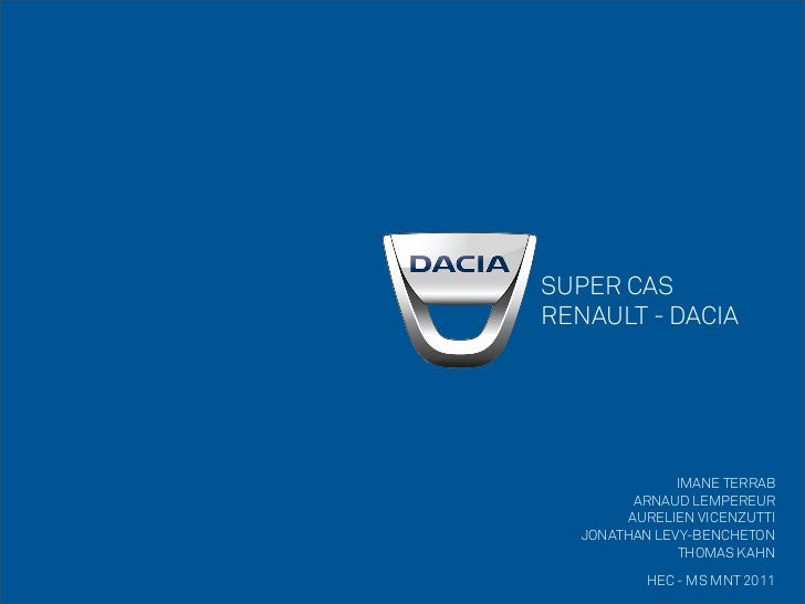 SUPER CASRENAULT - DACIA               IMANE TERRAB          ARNAUD LEMPEREUR         AURELIEN VICENZUTTI   JONATHAN LEVY-...