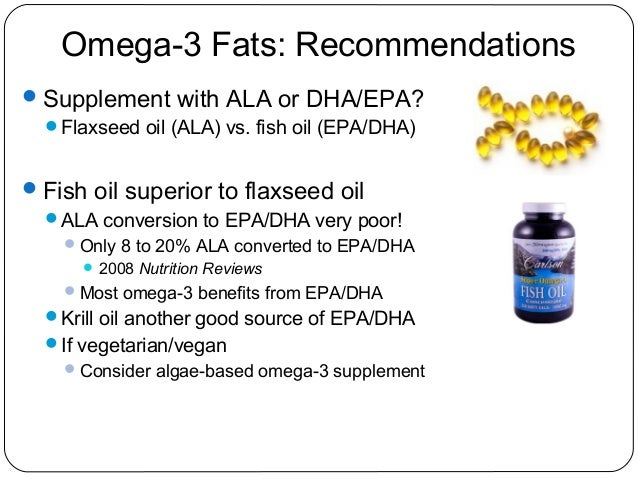 Supplement your dietary supplement iq for Flaxseed vs fish oil