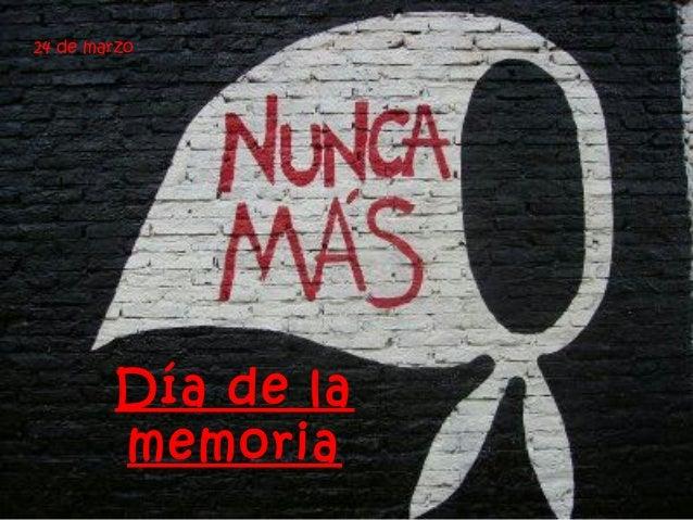 Día de la memoria 24 de marzo