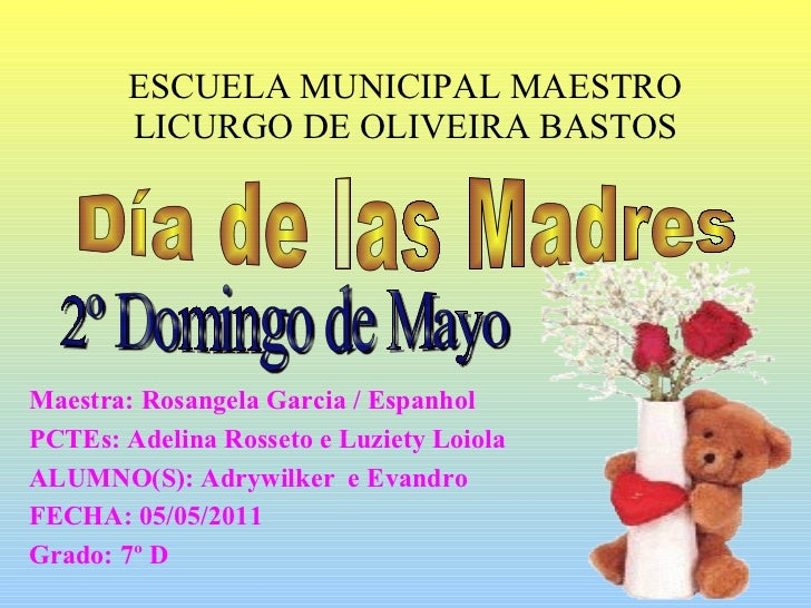 ESCUELA MUNICIPAL MAESTRO LICURGO DE OLIVEIRA BASTOS Maestra: Rosangela Garcia / Espanhol PCTEs: Adelina Rosseto e Luziety...