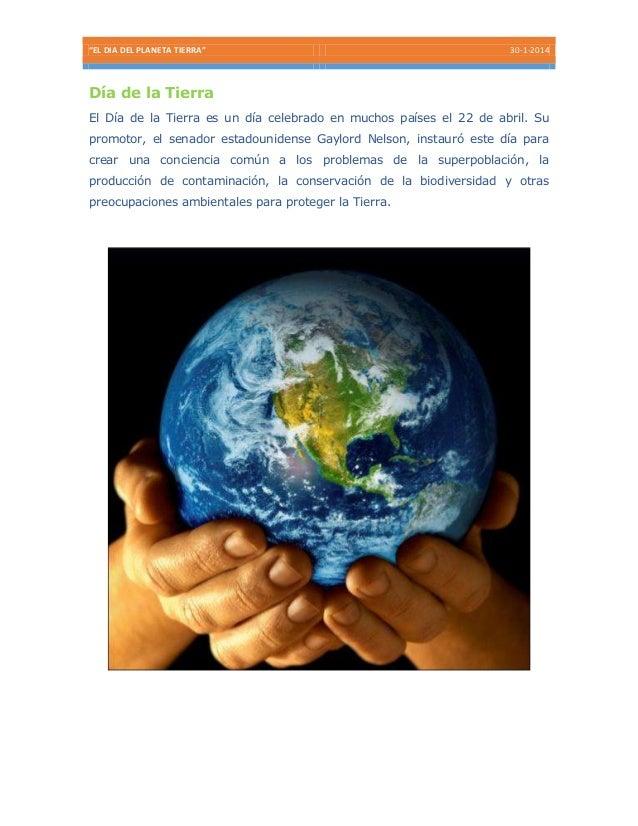 Día del planeta tierra 2014