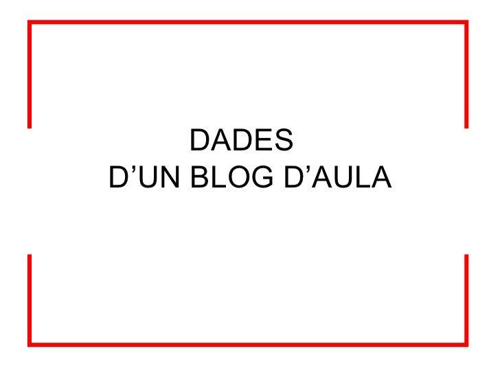 Dades d'un blog