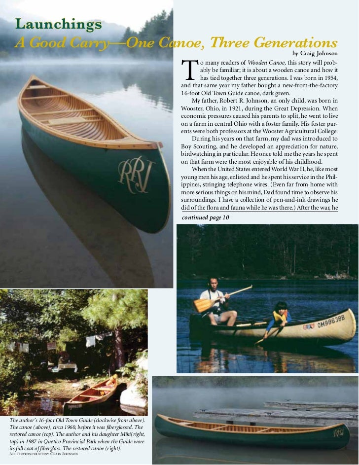 A Good Carry—One Canoe, Three Generations