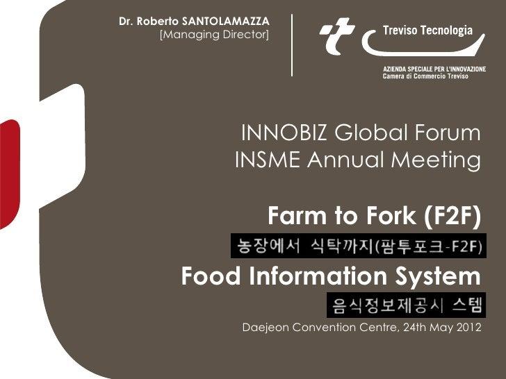 Dr. Roberto SANTOLAMAZZA       [Managing Director]                    INNOBIZ Global Forum                   INSME Annual ...