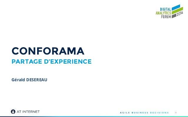 CONFORAMA PARTAGE D'EXPERIENCE 33 Gérald DESEREAU