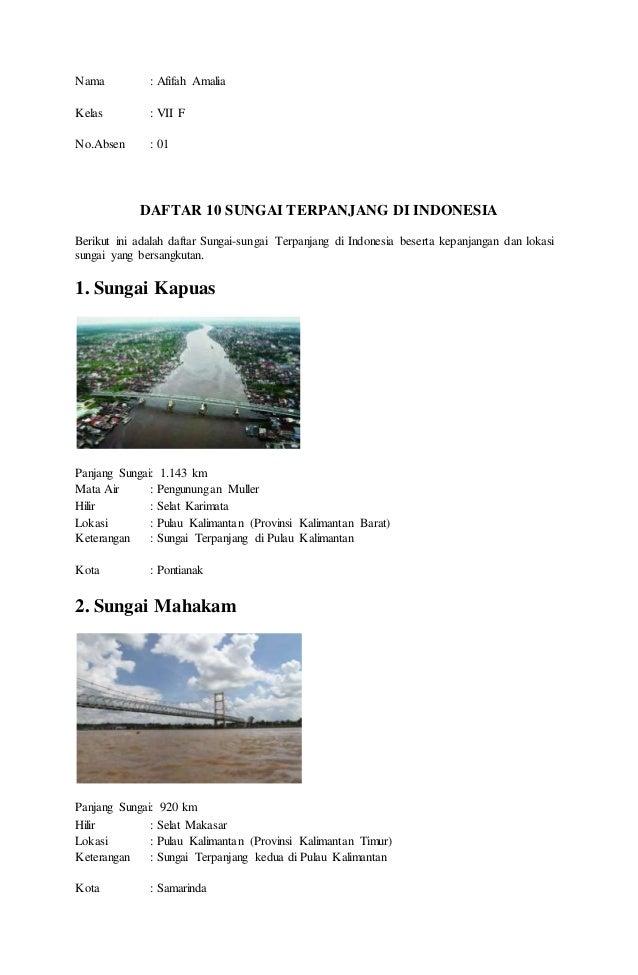 Daftar Nama Sungai Di Indonesia   elHouz