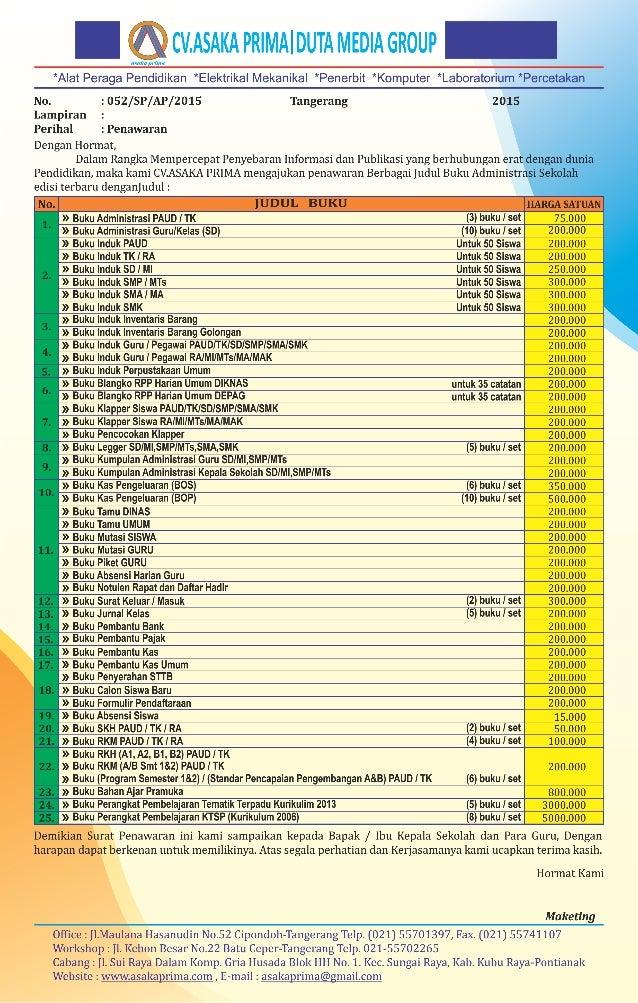 Buku Administrasi Sekolah ~ BUKU ADMINISTRASI SEKOLAH LENGKAP PAUD TK SD/MI SMP/MTs SMA SMK