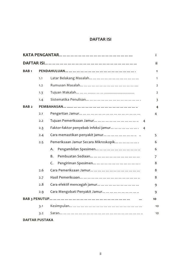 Contoh Daftar Isi Website Contoh Tab