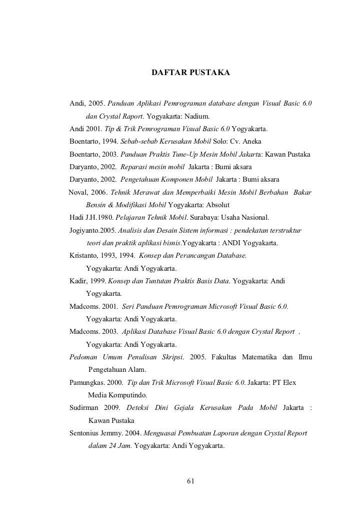Contoh Daftar Pustaka Visual Basic 6 0 Contoh Four
