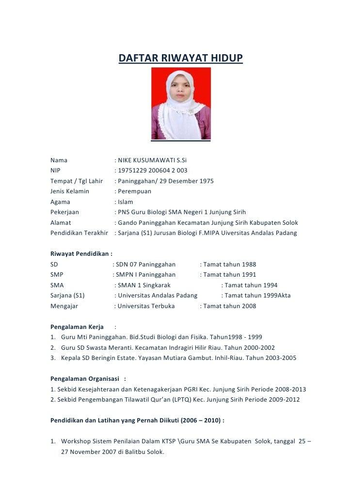 Contoh Curriculum Vitae Lamaran Kerja | Holidays OO