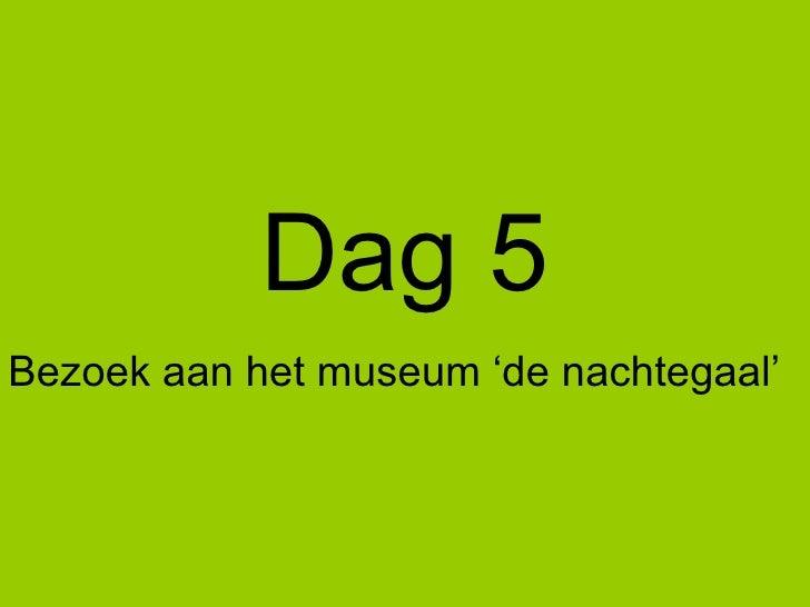 Dag 5 Bezoek aan het museum 'de nachtegaal'