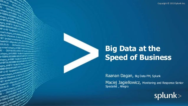 Implementing Big Data at the Speed of Business