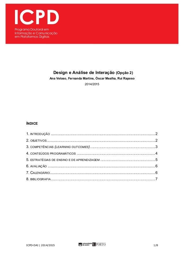ICPD  Programa Doutoral em  Informação e Comunicação  em Plataformas Digitai  s  ICPD  Programa Doutoral em  Informação e ...