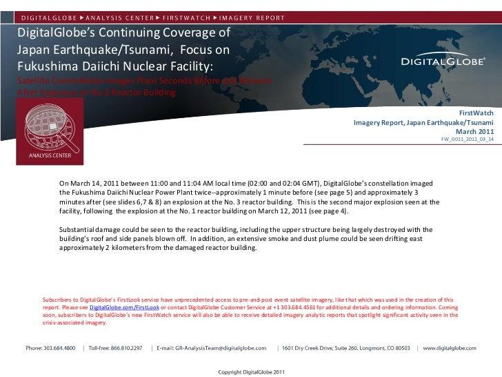 DigitalGlobe's Continuing Coverage of Power Plant           Fukushima Daiichi Nuclear           Okuma, JapanJapan Earthqua...