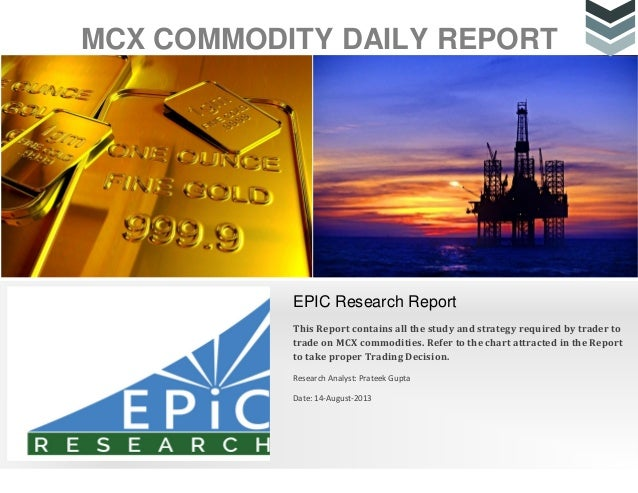 Daily commodity-report 14 august 2013