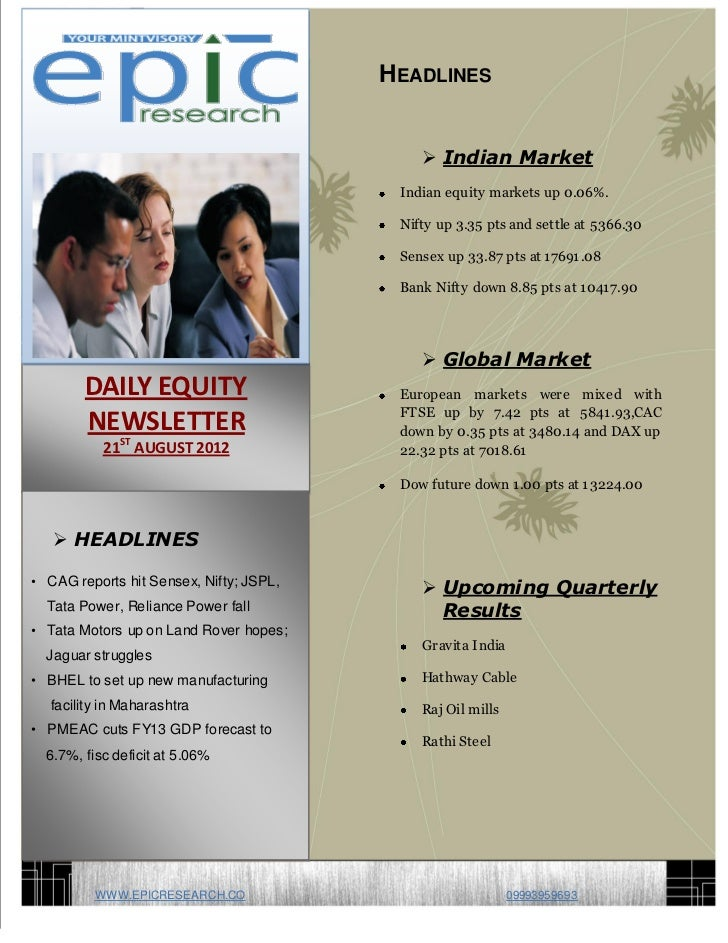 DAILY EQUTY REPORT BY EPIC RESEARCH-21 AUGUST 2012