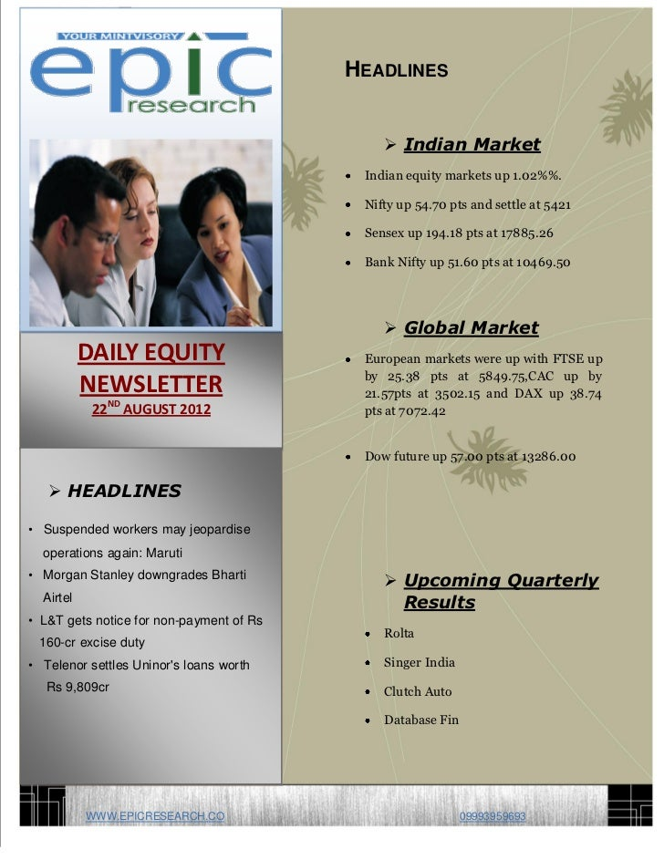 DAILY EQUTY REPORT BY EPIC RESEARCH-22 AUGUST 2012