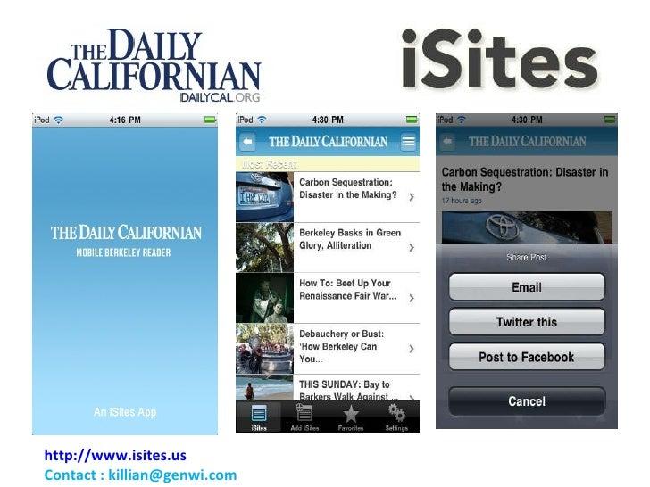 Daily Cal I Sites Demo