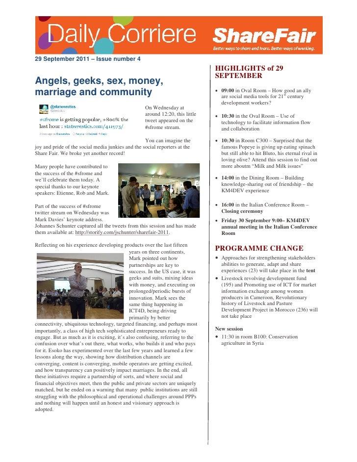 29 September 2011 – Issue number 4                                                                               HIGHLIGHT...