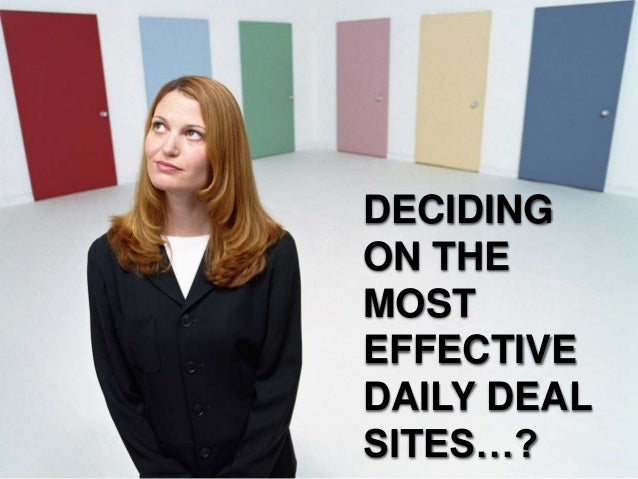 Deciding On The Most Effective Daily Deal Sites
