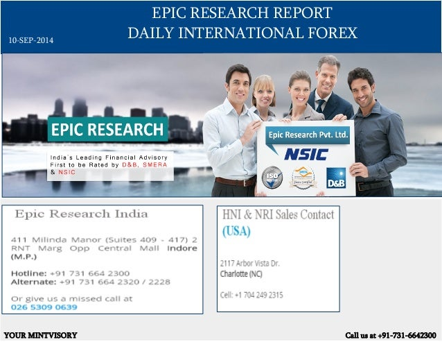 ... forex signals report by epic research singapore 10 th september 2014