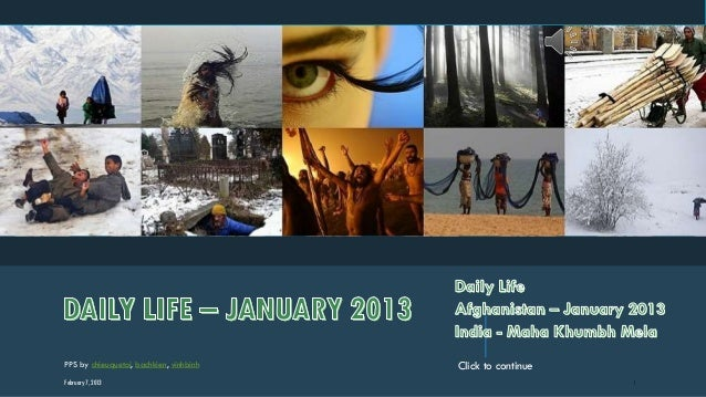 DAILY LIFE – JANUARY 2013
