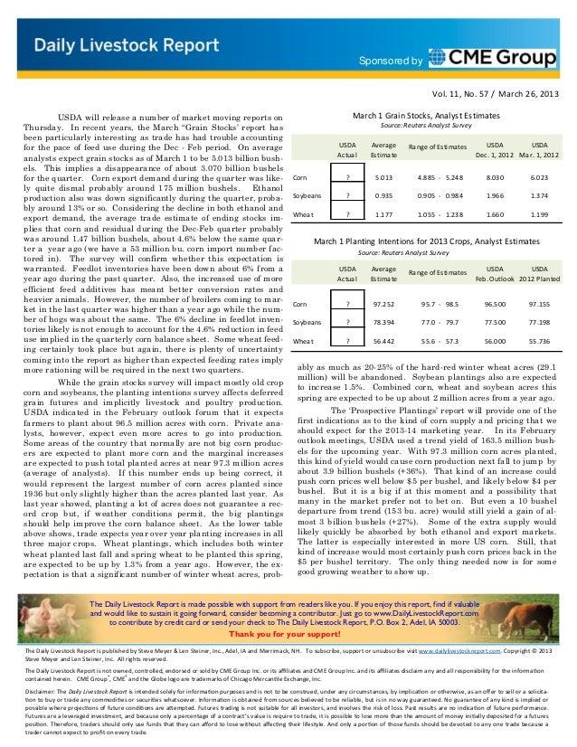 Daily livestock report mar 26 2013