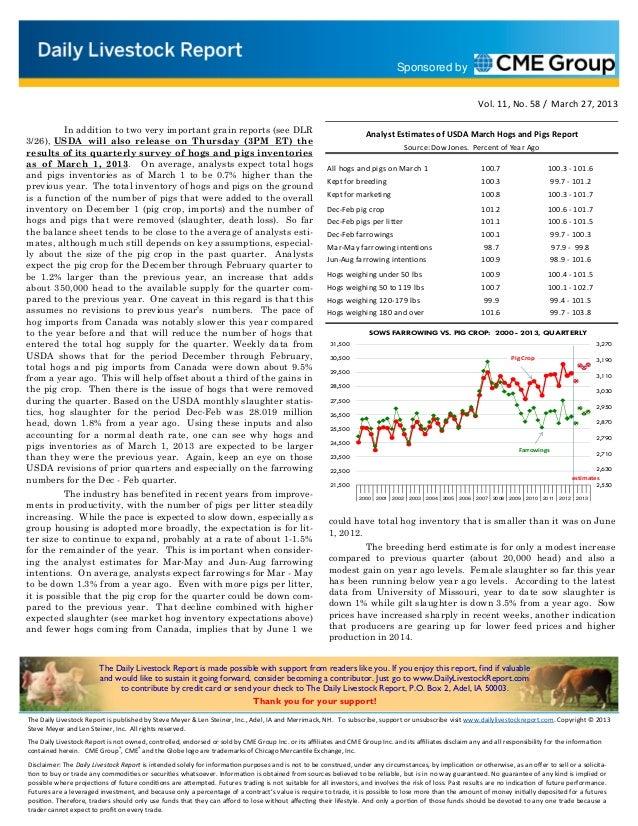 Daily livestock report mar 27 2013