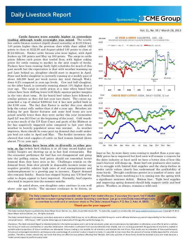 Daily livestock report mar 28 2013