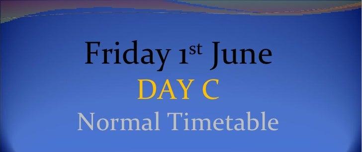 Friday, 1st June 2012