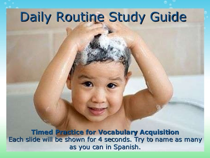 Daily routine study_guide
