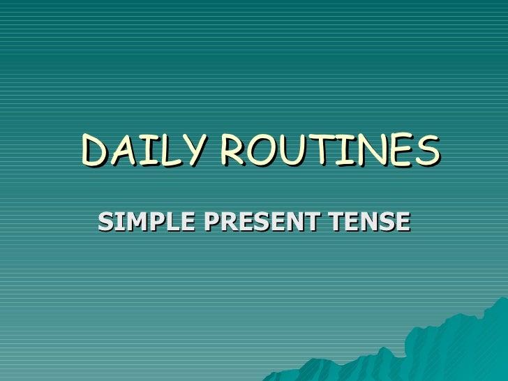 Tenses Bahasa Inggris, Simple Present Tenses Lesson Plan Teaching
