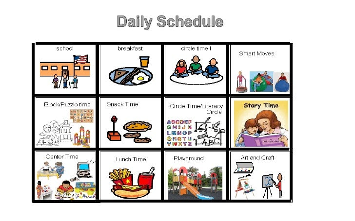 Daily Schedule Pictures – imvcorp