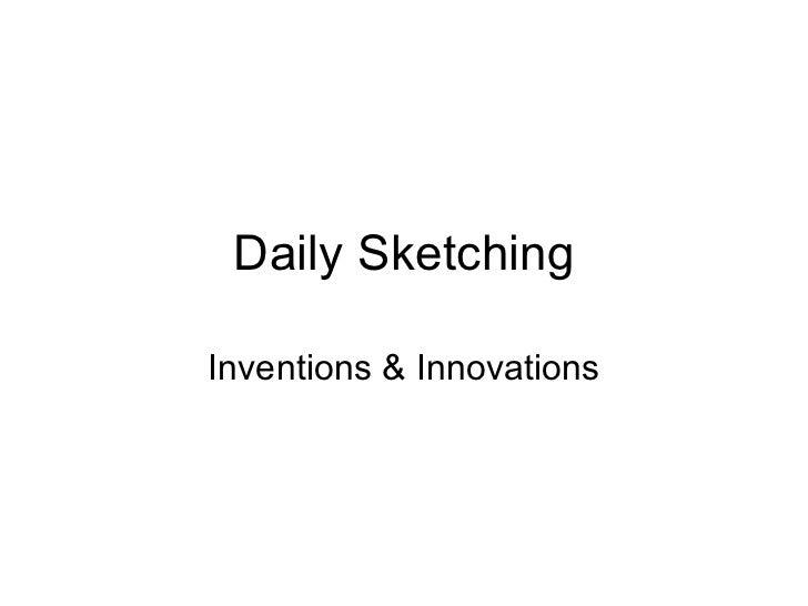 Daily sketching