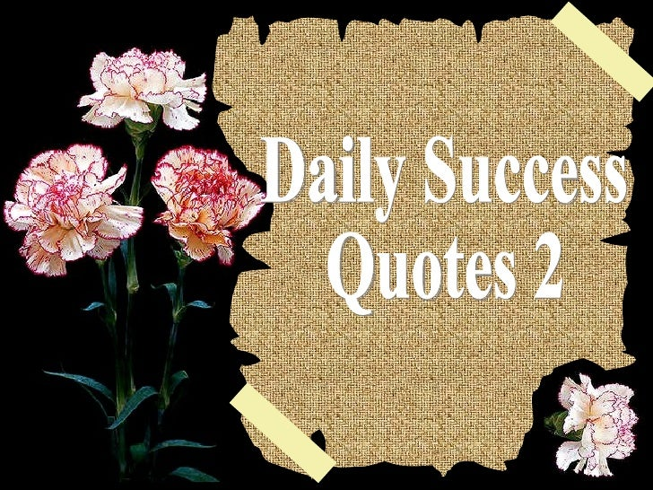 Daily success quotes 2