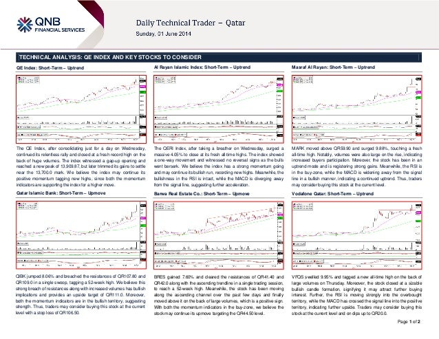 Page 1 of 2 TECHNICAL ANALYSIS: QE INDEX AND KEY STOCKS TO CONSIDER QE Index: Short-Term – Uptrend The QE Index, after con...