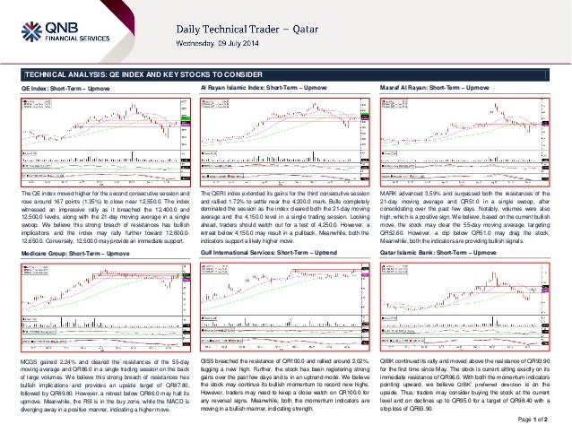 Page 1 of 2 TECHNICAL ANALYSIS: QE INDEX AND KEY STOCKS TO CONSIDER QE Index: Short-Term – Upmove The QE index moved highe...