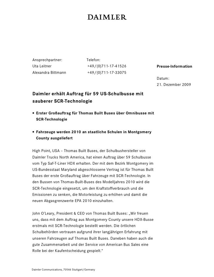 Ansprechpartner:                        Telefon:Uta Leitner                             +49/(0)711-17-41526           Pres...