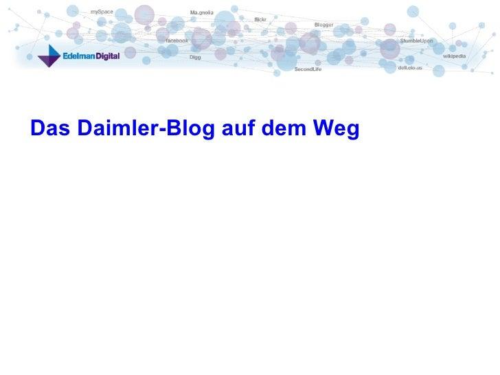 Das Daimler-Blog auf dem Weg