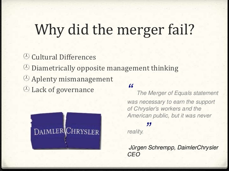 daimler chrysler merger essay
