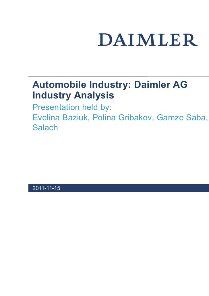daimler swot analysis Daimler launches new denza electric vehicle for the chinese  conducted  swot analysis to develop strategies to improve sales exceeded sales target by .