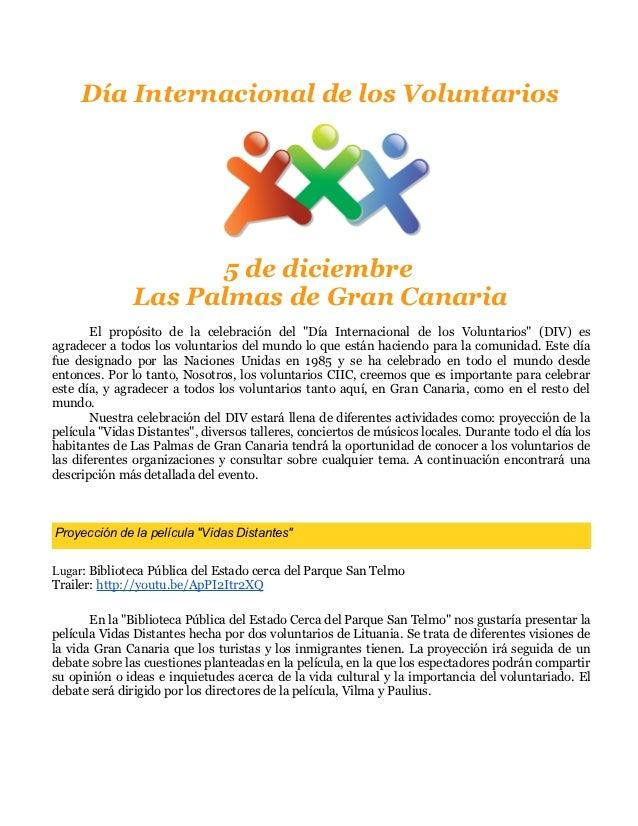 Día internacionalvoluntariosprograma espanol