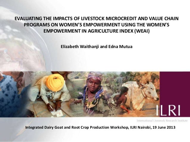 Evaluating the impacts of livestock microcredit and value chain programs on women's empowerment using the women's empowerment in agriculture index (WEAI)