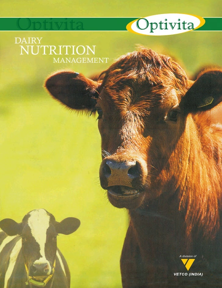 Dairy nutrition management