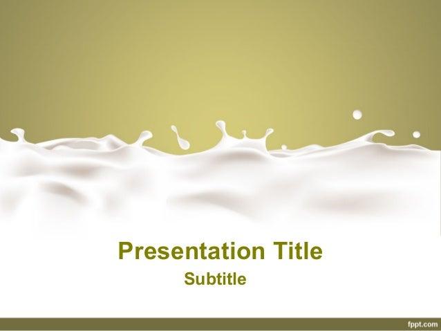 Dairy powerpoint presentation free milk powerpoint for Got milk template