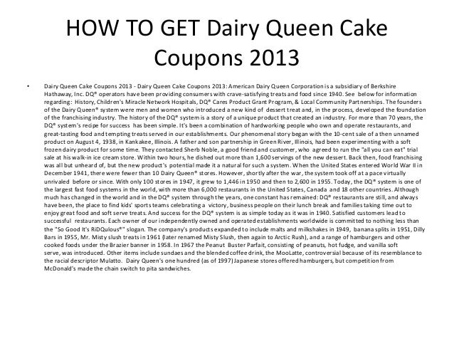 dairy queen cake coupons 2013   printable dairy queen cake coupons 20