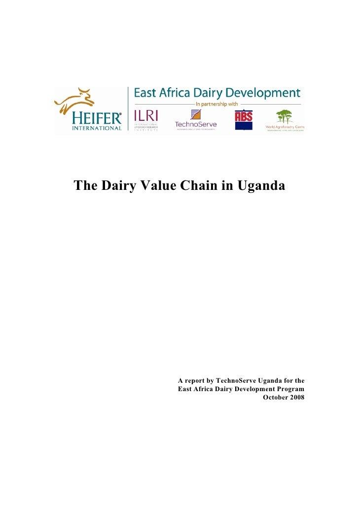 Dairy Value Chain Uganda Report