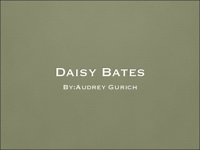 Daisy Bates by Audrey